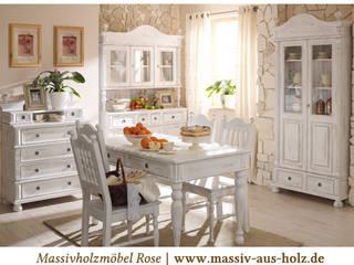 Landhausmöbel   Shabby Chic gewischt Landhaus Küchen von Massiv aus Holz Landhaus Massivholz Mehrfarbig
