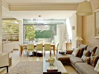 Kitchen and dining area at the Newton Road House in Westbourne Grove. :  Dining room by Nash Baker Architects Ltd
