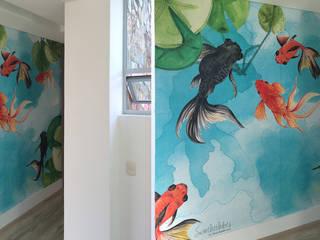 Privates Haus in Rionegro Kolumbien Silvia Betancourt Designs Wände & BodenWanddekorationen Papier Mehrfarbig