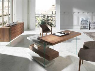 Secretárias modernas Modern desks www.intense-mobiliario.com  Vetro http://intense-mobiliario.com/product.php?id_product=8936:   por Intense mobiliário e interiores;