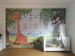 Privates Haus in Frankfort Silvia Betancourt Designs Wände & BodenWanddekorationen Papier Mehrfarbig