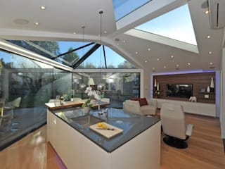 Living room by Paul Wiggins Architects, Modern