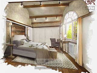 Country style bedroom by Olga's Studio Country