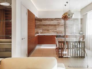 Апартаменты в Куркино: Столовые комнаты в . Автор – K-Studio