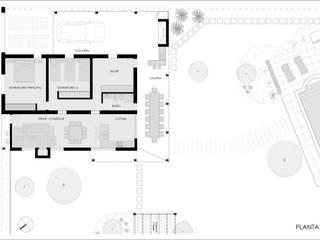 CASA DE CAMPO: Casas de estilo  por Ronda Estudio