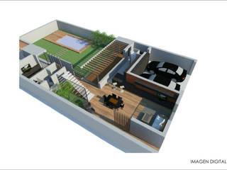 CASA A&G: Casas de estilo  por Ronda Estudio