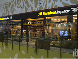 Saraiva - Manauara Shopping | AM: Lojas e imóveis comerciais  por KN Associados,Moderno