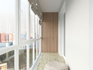 Terrazas de estilo  de Tatiana Zaitseva Design Studio, Industrial