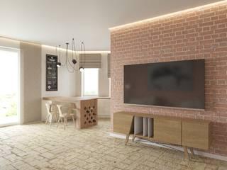 Salones de estilo  de Tatiana Zaitseva Design Studio, Industrial