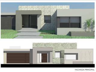 CASA M&R: Casas de estilo  por Ronda Estudio