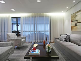 Apartamento Granja Julieta Salas de estar modernas por Officina44 Moderno