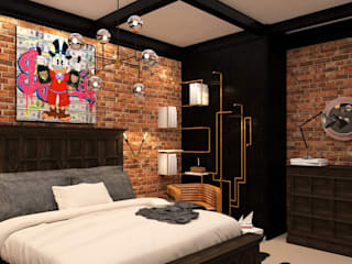 Industrial style bedroom by Taller 03 Industrial