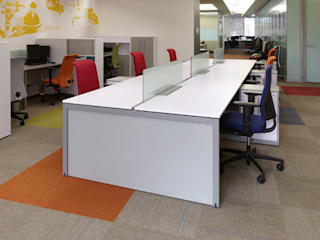 Riviera Office spaces & stores Wood-Plastic Composite White