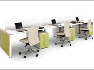 Riviera Office spaces & stores Wood-Plastic Composite Beige