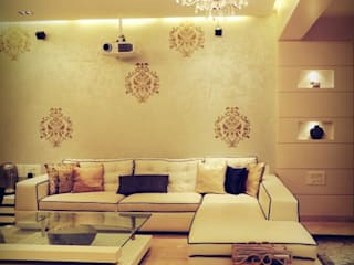 Sanghvi Residence:  Living room by SwitchOver Studio,