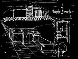 Concepto, boceto del proyecto:  de estilo  por ESTUDIO URBANO A+U