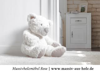 Massiv aus Holz BedroomBedside tables Solid Wood White