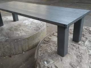 Oude plafondbalken worden 'nieuwe' tafel:   door Ab Houtcreaties