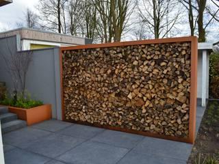Jardines de estilo moderno de STROOM architecten Moderno Fibra natural Beige