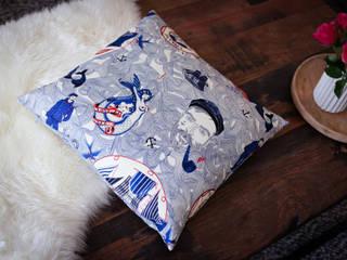Kissen aus Leinen und Baumwolle mit Federfüllung:   von Die-Kissenperle
