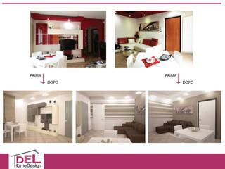 Ricolora: Soggiorno in stile  di DEL Home Design