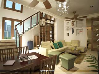 Jain residence Modern living room by Design bureau Modern