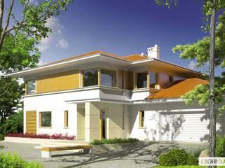 PROJEKT DOMU DIEGO II G2 : styl , w kategorii Domy zaprojektowany przez Pracownia Projektowa ARCHIPELAG,Śródziemnomorski