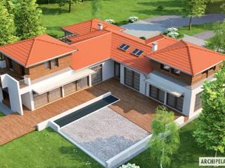 PROJEKT DOMU DIONIZY G2 : styl , w kategorii Domy zaprojektowany przez Pracownia Projektowa ARCHIPELAG,Śródziemnomorski