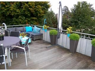 exklusive 5-Zimmer-Wohnung mit großem Balkon Moderner Balkon, Veranda & Terrasse von Lebenstraum-Immobilien GmbH & Co.KG Modern