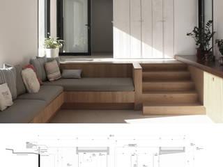 Maison Luynes: Salon de style  par Atelier-Calas