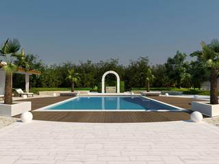 Moderne zwembaden van plasma Modern