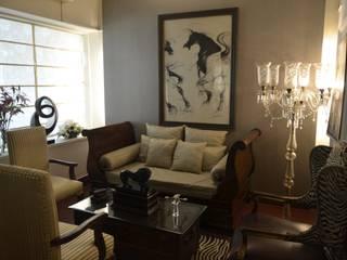 VISIONS Living room Wood Beige