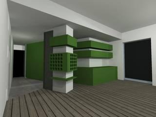 Green Mood Bureau69 d'Architettura Cucina moderna