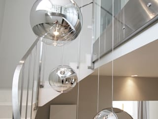 Modern Corridor, Hallway and Staircase by Katarzyna Kraszewska Architektura Wnętrz Modern