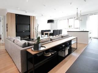 Projekt Wnętrza mieszkania 140 m kw Klasyczny salon od Katarzyna Kraszewska Architektura Wnętrz Klasyczny