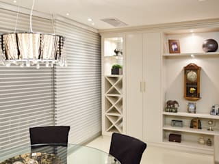 Ana Levy | Arquitetura + Interiores Dining roomWine racks