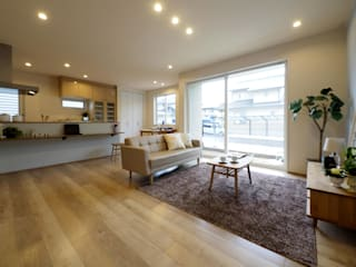 Live Sumai - アズ・コンストラクション - Modern living room White