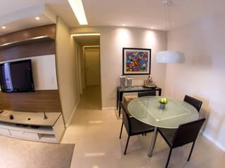 Millena Miranda Arquitetura ห้องทานข้าว กระจกและแก้ว
