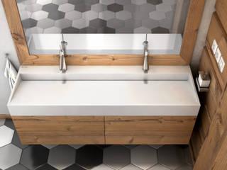 Nietypowa łazienka z wyposażeniem od LUXUM Nowoczesna łazienka od Luxum Nowoczesny