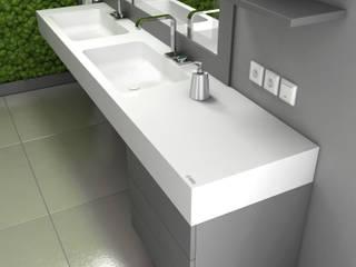 Nowoczesne wnętrze łazienki Nowoczesna łazienka od Luxum Nowoczesny