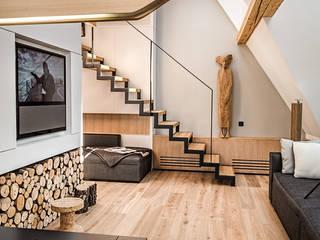 Dom Zakopane1 Nowoczesny salon od Bartek Włodarczyk Architekt Nowoczesny