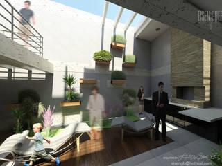 REMODELACIÓN MODULO POSTERIOR VIVIENDA Nº11. MAÑONGO Casas de estilo minimalista de Eisen Arquitecto Minimalista