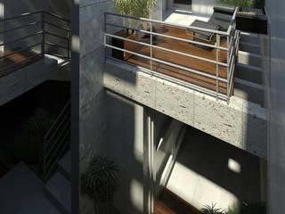REMODELACIÓN MODULO POSTERIOR VIVIENDA Nº11. MAÑONGO Balcones y terrazas de estilo minimalista de Eisen Arquitecto Minimalista