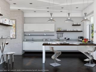 Project villa monofamiliare Cucina minimalista di Studio di Architettura Minimalista