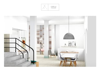 RESTRUCTURATION COMPLETE D'UN DUPLEX DE 200 M2 Couloir, entrée, escaliers scandinaves par SLOWOOD / MOUVANCE DESIGN Scandinave