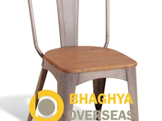 INDUSTRIAL TOLIX CHAIR WITH WOOD SEAT:   by BHAGHYA OVERSEAS