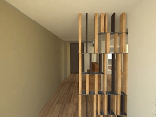 FV: Couloir et hall d'entrée de style  par in/Uit architectes