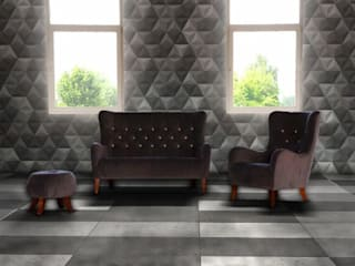 Concrete panels, furnitures, pots Bettoni by DecoMania.pl Мінімалістичний