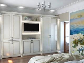 Дизайн студия Александра Скирды ВЕРСАЛЬПРОЕКТが手掛けた寝室,