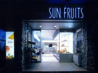 フルーツショップ「サンフルーツ」: ミズタニ デザイン スタジオが手掛けたオフィススペース&店です。